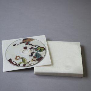 Pochette CD autocollante pour 1 CD (avec rabat)